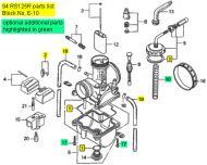 Honda RS125, 1993-1994 - Carburetor Rebuild Kit
