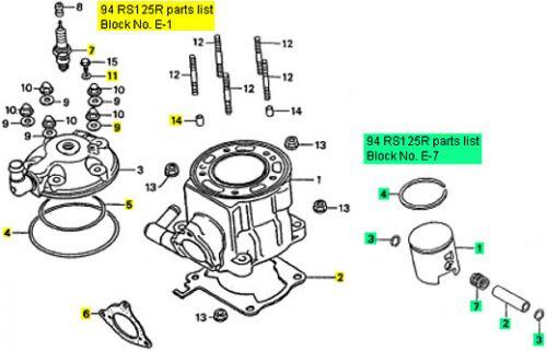 Honda Rs125 1991 1994 Top End Rebuild Kit