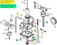 Honda RS125, 1995-1997 - Carburetor Rebuild Kit
