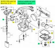 Honda RS125, 1998-2009 - Carburetor Rebuild Kit