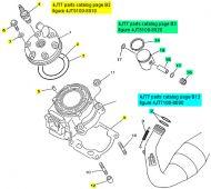 Yamaha TZ125, 1998-2010 - Top End Rebuild Kit