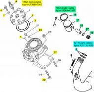 Yamaha TZ125, 1994-1997 - Top End Rebuild Kit