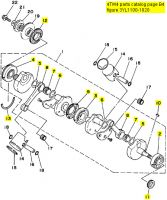 Yamaha TZ250, 1991-1999 - Crankshaft Rebuild Kit