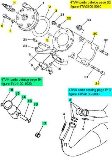 Yamaha TZ250, 1991-1999 - Top End Rebuild Kit