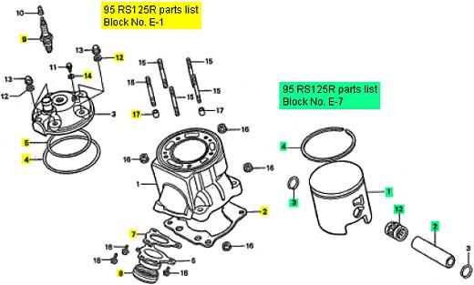 Honda Rs125 1995 1997 Top End Rebuild Kit